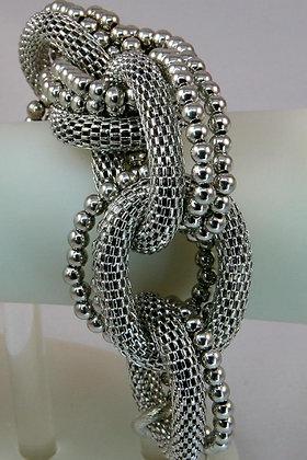 """Greta"" Multi Mesh/Ball Chain Link Braselet"