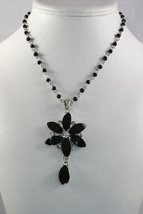 """Emma"" Czech Glass Flower Pendant Necklace"