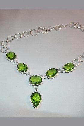 """Adaline"" Peridot Chain Necklace"