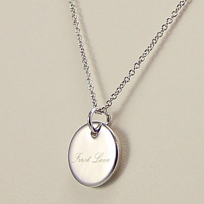 """First Love"" White Gold Pendant Necklace"
