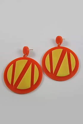 """Annita""Acrylic Very Large Circle Fashion Earring"
