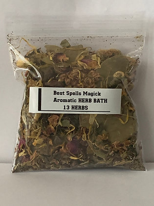 """""""13 HERBS"""" Spell & Bath Herbal Blend -Blessing, Luck, Wishes"""