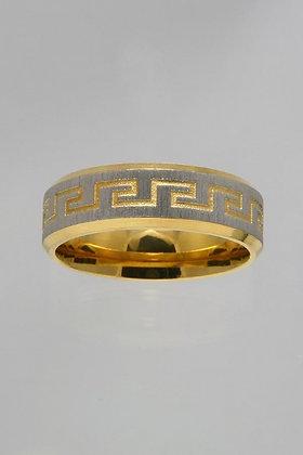 """Carlin""Titanium Gold & Silver Band Ring"