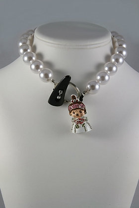 """""""Dolly"""" Artificial Large Pearl 17""""L Necklace"""