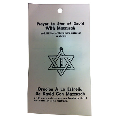 Star of David with Mazzuzah Prosperity and Happiness Talisman