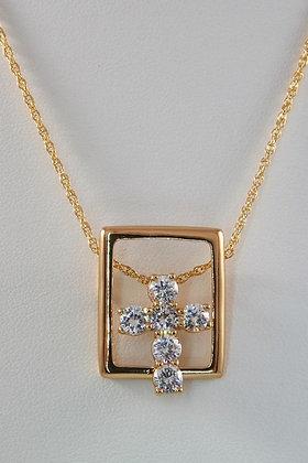 """Gianara"""" Avant OGarde 18K Gold Charm Pendant"""