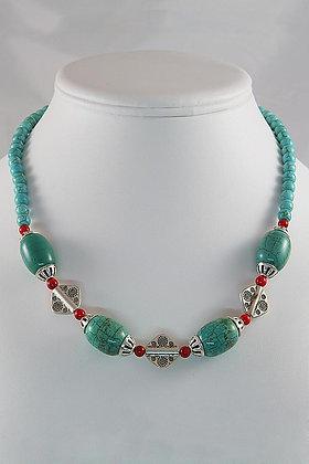 """""""Antoinette""""Turquoise Alaqueca 18""""L Necklace"""
