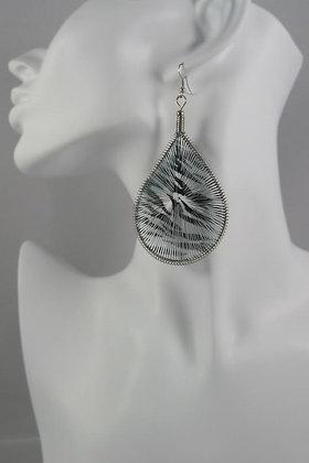"""""""Irisone"""" Grey Dream-Catcher Earrings"""