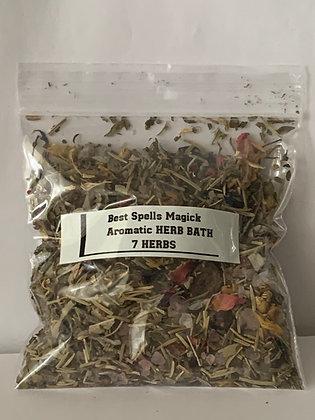 """""""7 Herbs"""" Spell & Bath Herbal Blend Lucky 7"""