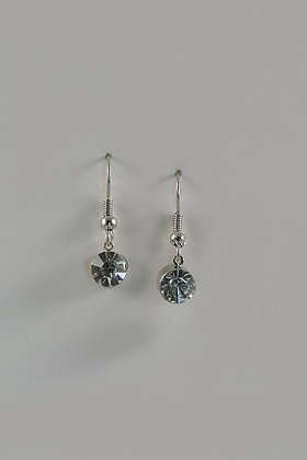 """Dotty"" Clear Crystal Drop Earrings"