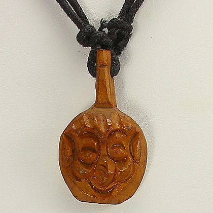Tribal African Mask Amulet Necklace