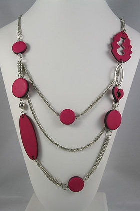 """""""Evie"""" Continuous Loop & Steel Chain Necklace"""