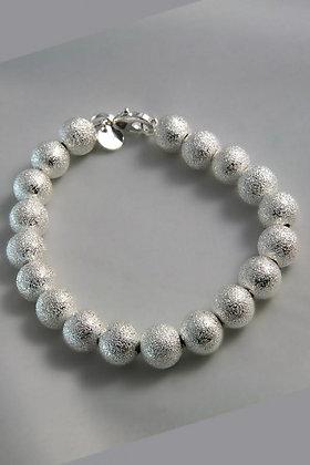 """Kali"".925 Sterling Silver Ball Link Bracelet"