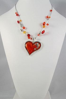 """Frista"" Art Crystal & Enamel Necklace"