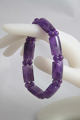 """Janee"" Natural Amethyst Stretch Bracelet"