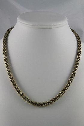 """Etenia"" Antique Gold Tone Chain Necklace"