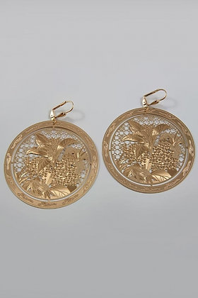 """China"" 24K Gold Plated Filigree Earrings"