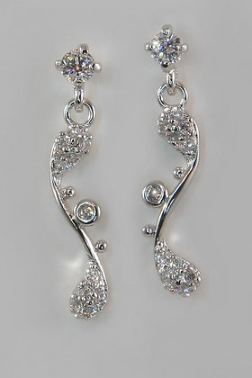 """Aislin"" Elegant White Gold Plated With AAA Zircon Earring"