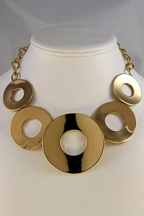"""""""Ciara""""Gold Tone Round Link Chain Necklace"""