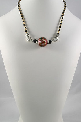 """""""Carmen"""" Flower Ball and Fish Necklace"""