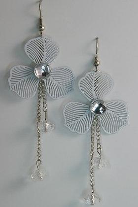 """Meagan"" Wind Clover Crystal Alloy Earrings"