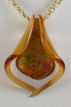 """""""Elvina"""" Murano Glass Calla Lily Pendant"""