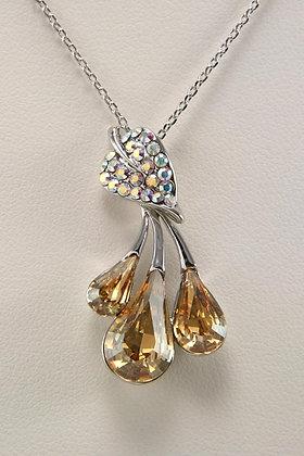 """Sima"" AAA Champagne Crystal Pendant"
