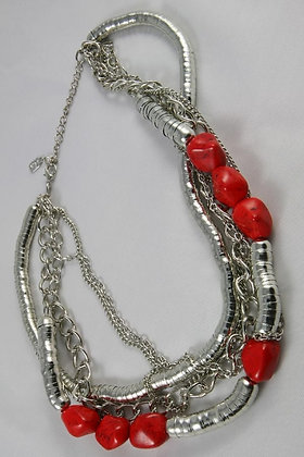 """Rosana"" Natural Red Stone Necklace"