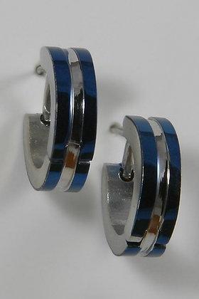 """Celesta"" Blue Titanium Small Hoop Earrings"