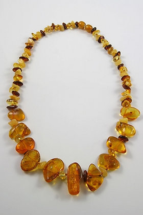"""Graziana"" Mixed Honey Baltic Amber Necklace"