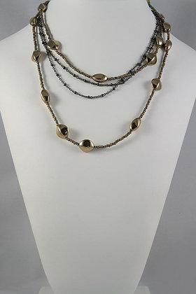"""Abigail"" Multi Strand 38""L Deco Beads Necklace"