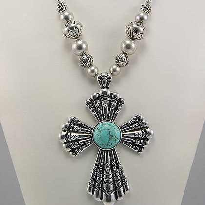 CHRISTA Turquoise Pendant Necklace
