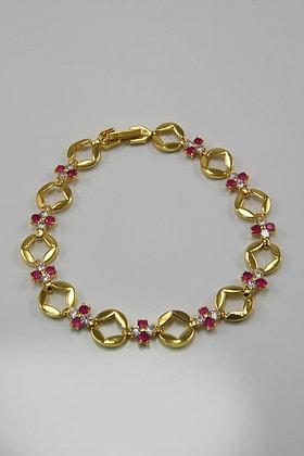 """Berit""18KYGP Ruby & Diamonds Bracelet"