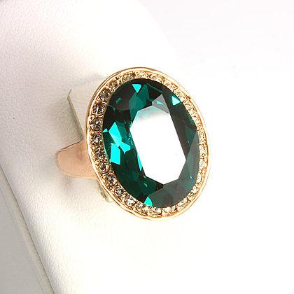 """Lucky Lady"" Swarovski Emerald Ring"