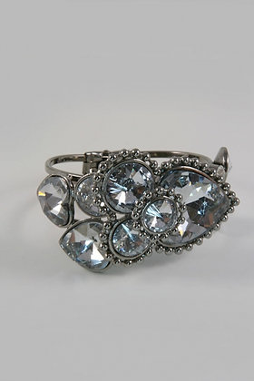 """Ava"" Deco Geometric Stone & Facet Glass Bracelet"