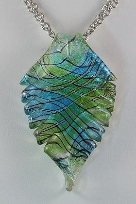 """Florence"" Murano Glass Leaf Pendant"