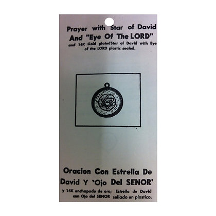 Star of David Eye of the Lord Protection Talisman