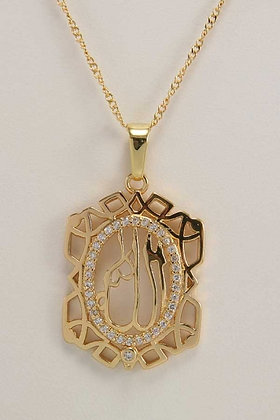 """Gaita"" 18K Yellow Gold AAA Zircon Pendant."