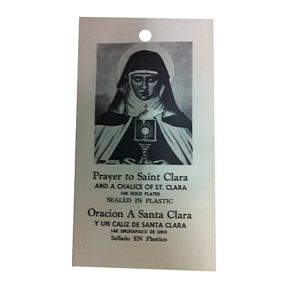 Saint Clara Talisman to Overcome Drug or Alcohol Problems