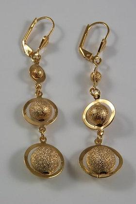 """""""Brandy"""" 18K Gold Embraced™ Dangle Drop Ball Earrings"""