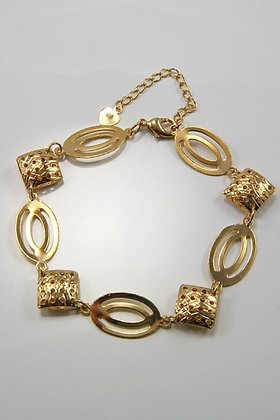 """""""Irme""""18K Yellow Gold Plated 8""""L Bracelet"""