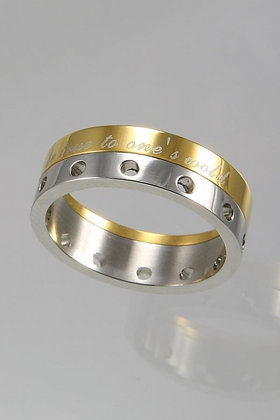 """""""Erny""""Two Tone Titanium Movable Ring"""