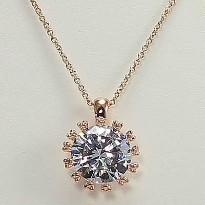 """Brilliant Wonder""  Zircon Pendant Necklace"