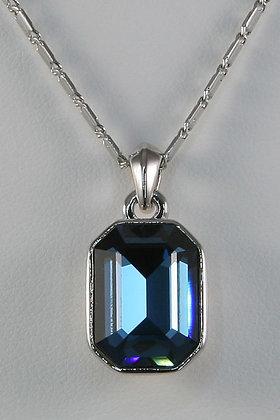 """""""Ilia"""" Blue Topaz Crystal Copper Alloy Pendant"""