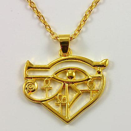 Egyptian Eye of Horus Pendant Necklace Amulet