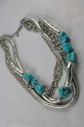 """Rosene"" Natural Blue Stone Necklace"