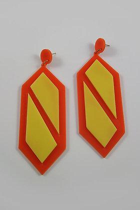 """Aniuta"" Very Large Acrylic Earrings"