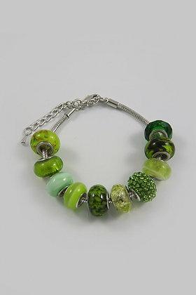 """Erdella""Murano Glass & Crystal Pandora Bracelet"