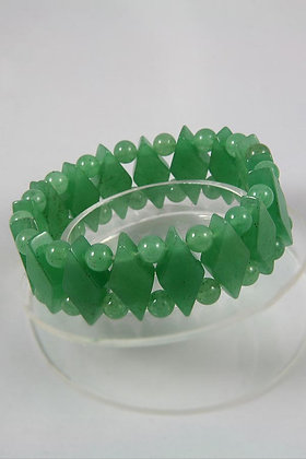 """Avalee"" Genuine Aventurine Link Stretch Bracelet"