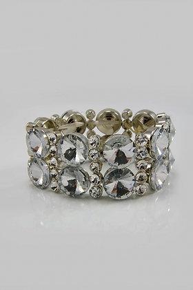 """""""Mona"""" Facet Glass Link Adjustable Bracelet"""